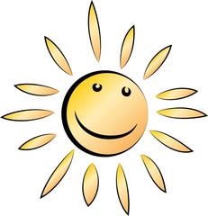 Lachende Sonne