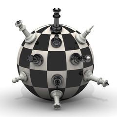 Шахматные фигуры на сфере