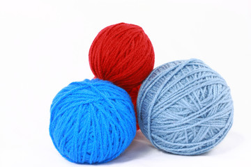 Balls of yarn for knitting, crocheting, and other crafts.