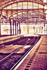 morning rail station
