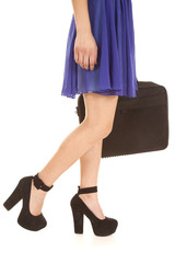 woman walking legs bag