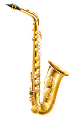 A gold saxophone