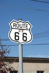 Deurstickers Route 66 Route 66 sign