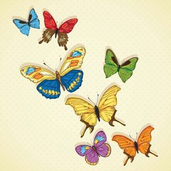 In de dag Vlinders Butterfly Icons