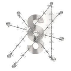 Isolated metallic law symbol 3d icon