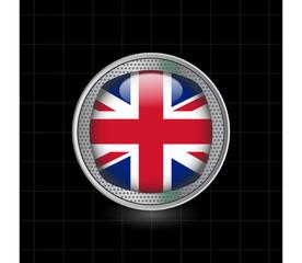 Metallbutton Vereinigtes Königreich Groß Britanien