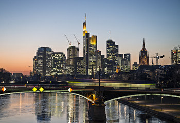 Fototapete - Ansicht von Frankfurt am Main