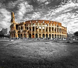 Poster de jardin Rome The Majestic Coliseum, Rome, Italy.