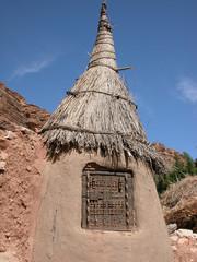 Détail hutte Pays Dogon