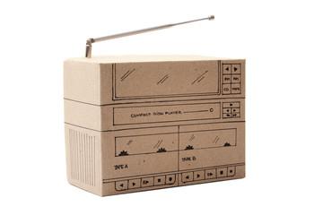 Cardboard Boom box
