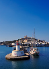 Harbor in Ibiza Town, Balearic Islands, Spain