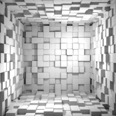 Fototapeta Cube room 3d - background obraz