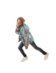 Black girl dancing.