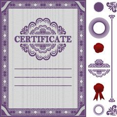 Certificate Template with additional elements.