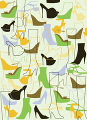 Background from fashion shoes.