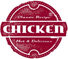 Vintage Chicken Stamp