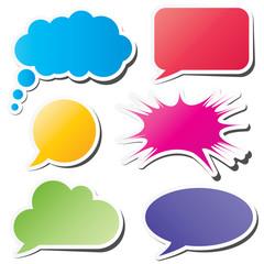 Six colorful speech bubbles eps10 vector
