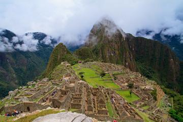 Tourist at Lost City of Machu Picchu - Peru