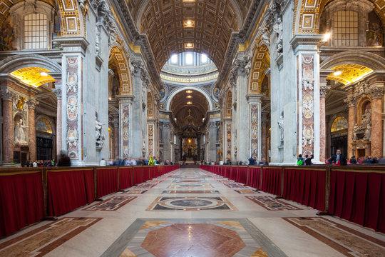 Interior of St. Peters Basilica