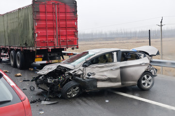 Freeway traffic accidents