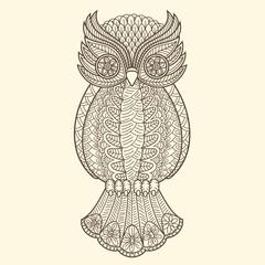 Wall Mural - Decorative owl