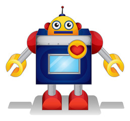 Spoed Foto op Canvas Robots A toy for young boys