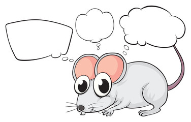 A white mouse with empty callouts