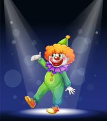 A clown dancing