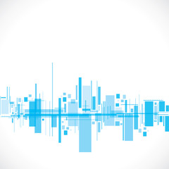 abstract city stock vector