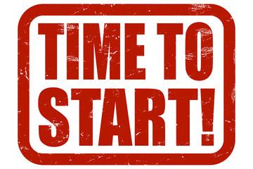 Grunge Stempel rot TIME O START!