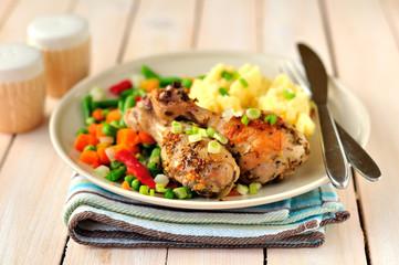 Mustard, Lemon and Rosemary Roast Chicken