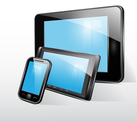 set icon, tablet and mobile phone