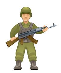Fotorolgordijn Militair Soldier