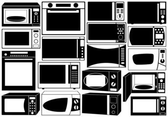 Set of microwave ovens