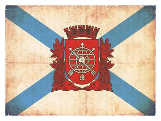 Grunge-Flagge Rio de Janeiro (Brasilien)