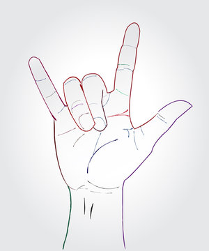 I love you hand symbolic gestures