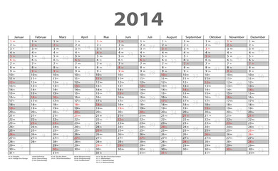 2014 Jahresplaner
