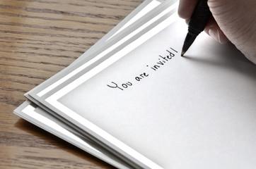 Writing Invitation Card
