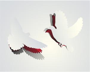 Vector peel off doves design