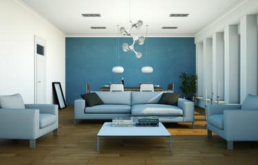 Wohnzimmer im Loft