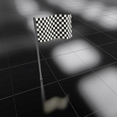 Zielfahne - 3D Render