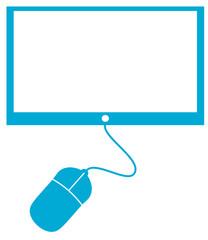 Bildschirm mit Maus