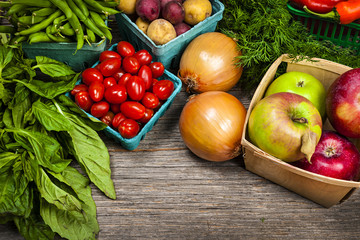 Fresh market fruits and vegetables