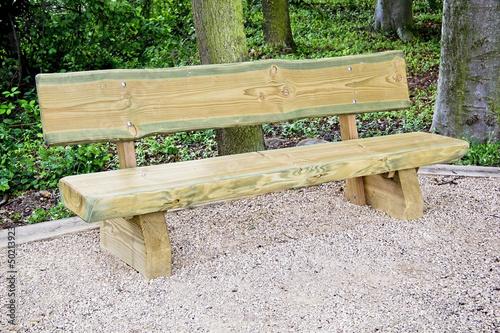 Holz Sitzbank im Wald\