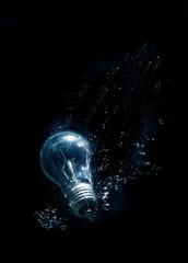 bulb in water