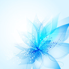 vector background with blue Flower