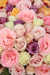 Bridal flowers in pastel shades