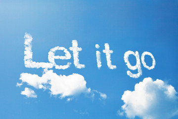 Let it go, a cloud message on sky