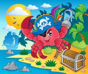 Foto op Plexiglas Piraten Pirate crab theme image 2