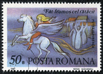 stamp shows Scenes from Fairy Tale by Peter Ispirescu